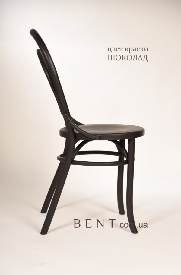 Chair BENT Bukovina chocolate side