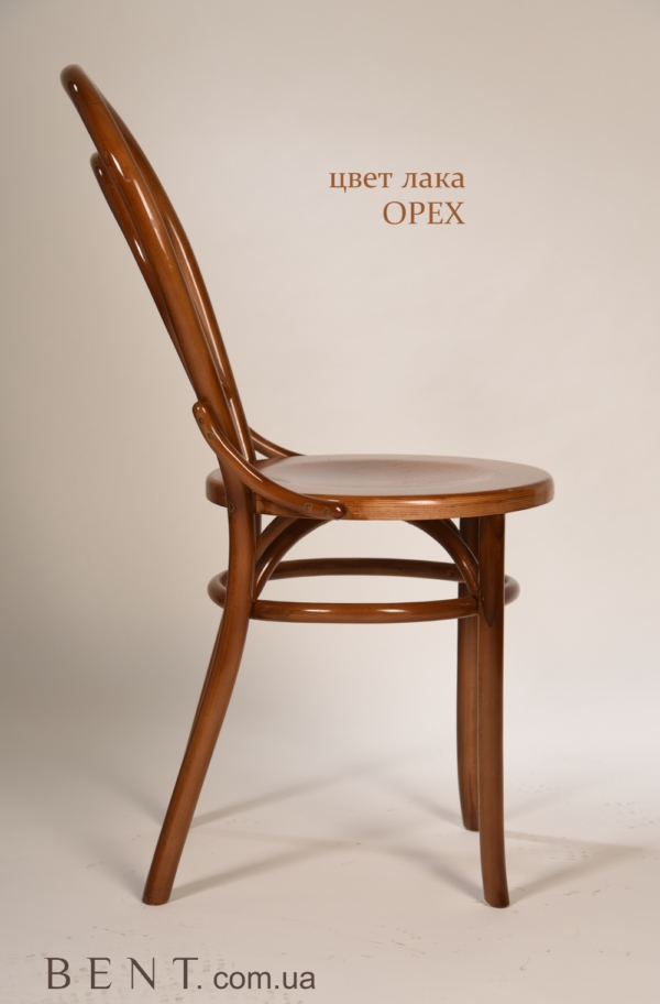 Chair BENT Bukovina light brown side