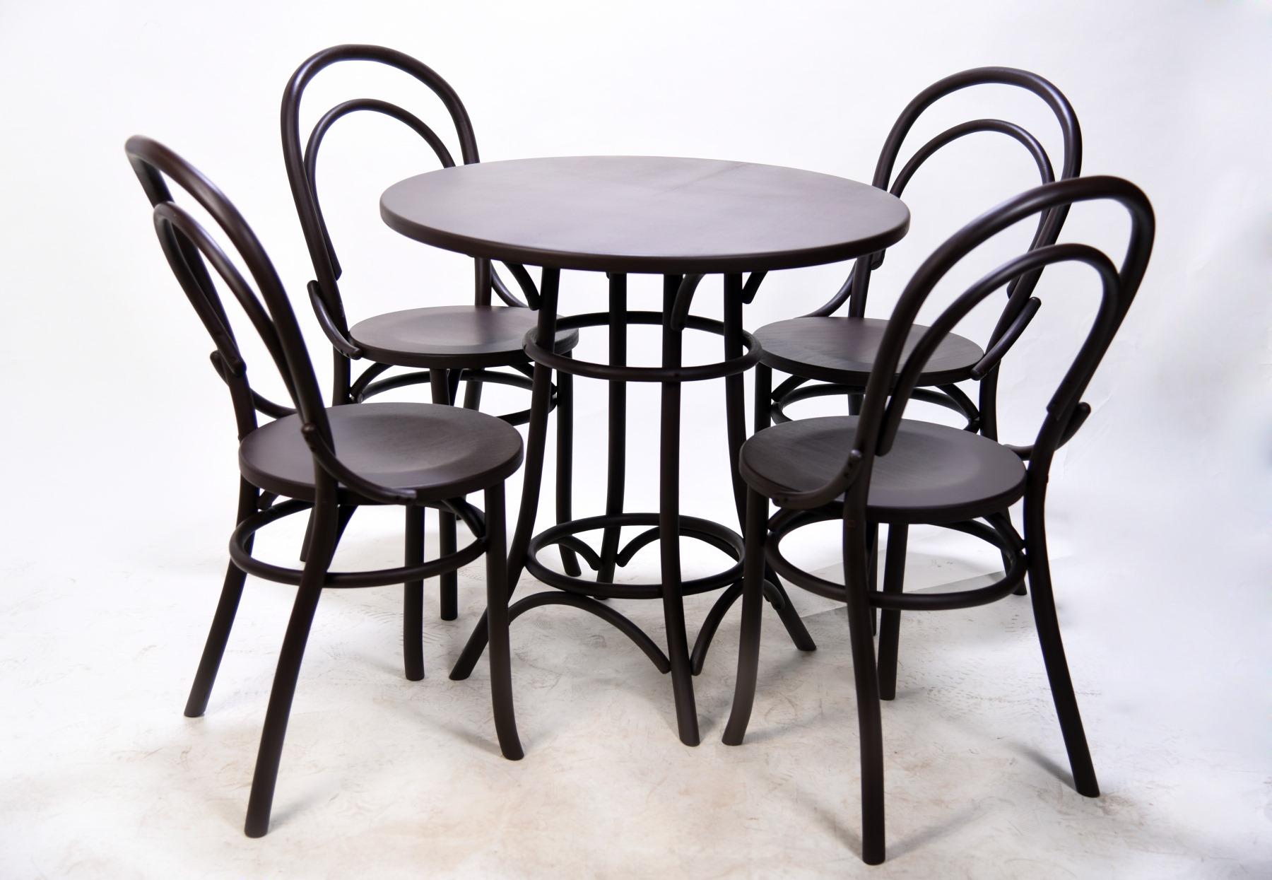 4 венских стула из дерева и венский деревянный стол от производителя